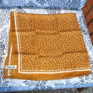 Cleobella Silky Gold Scarf Polka Dots